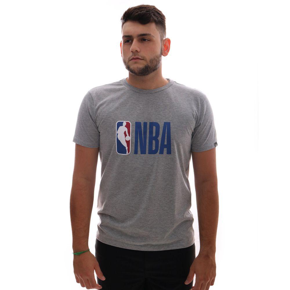 Camiseta New Era Logo NBA Cinza