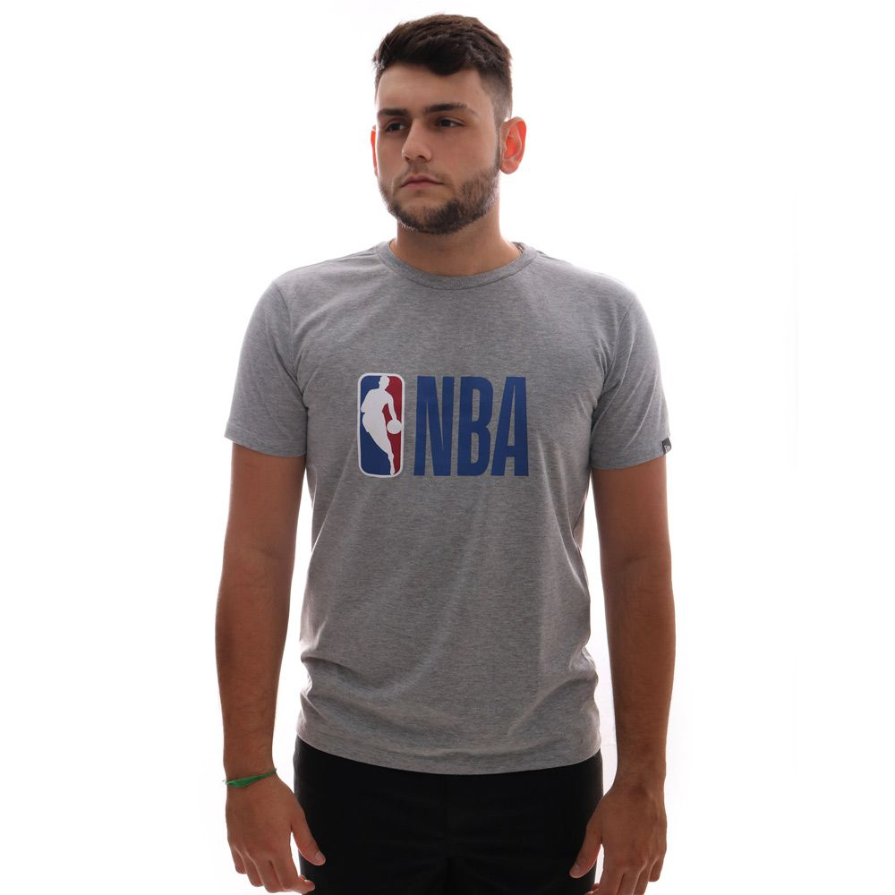 Camiseta New Era Logo NBA Cinza