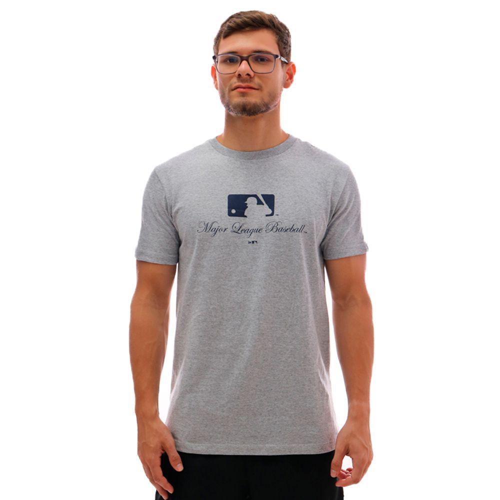 Camiseta New Era MLB Essentials Major Mescla Cinza
