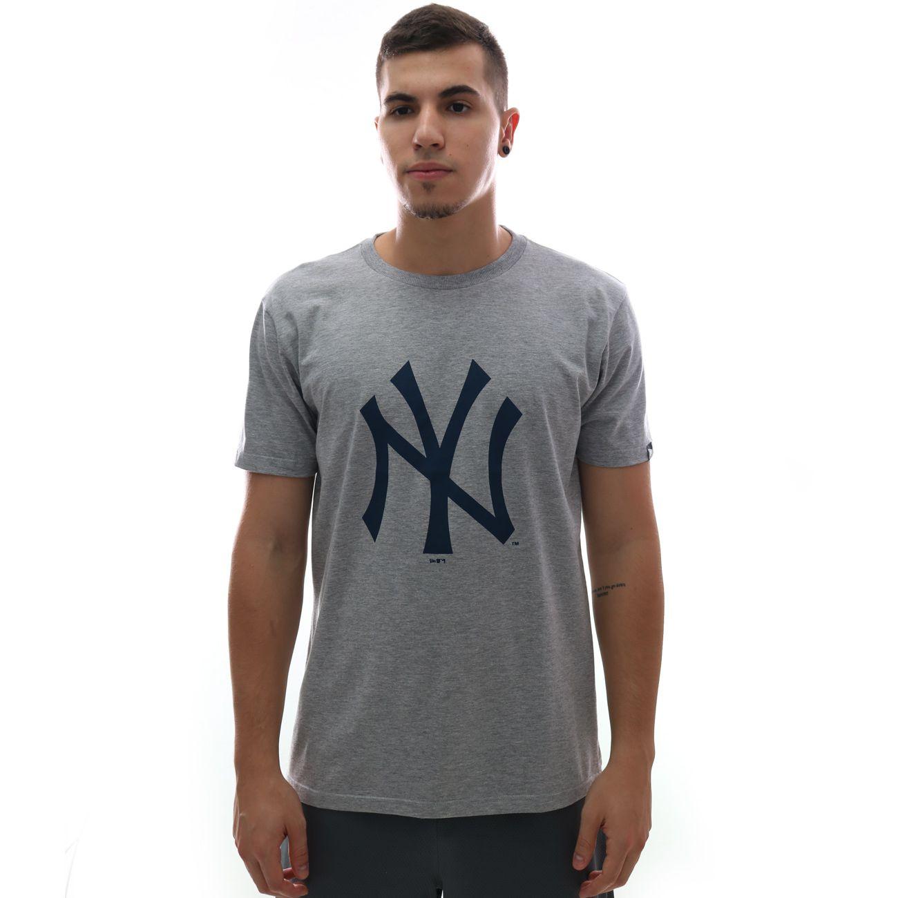 Camiseta New Era MLB New York Yankees Cinza