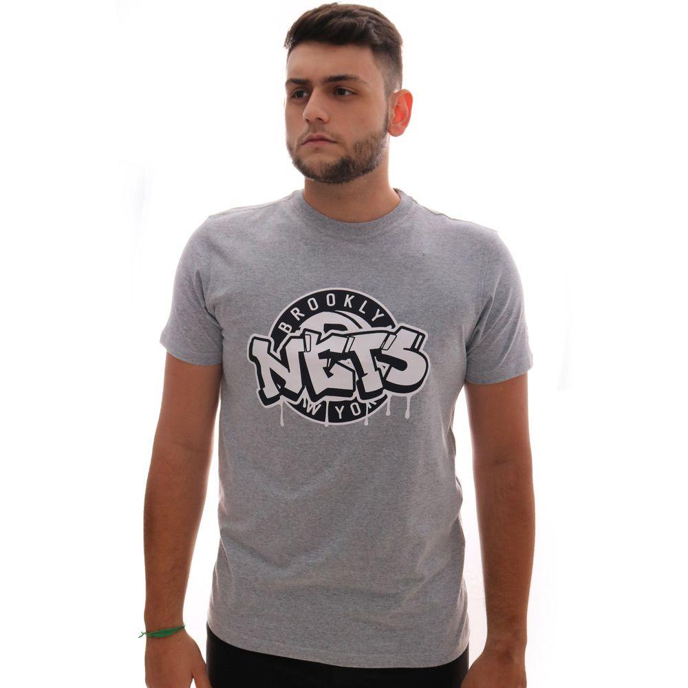 Camiseta New Era NBA Brooklyn Nets Grafite Cinza