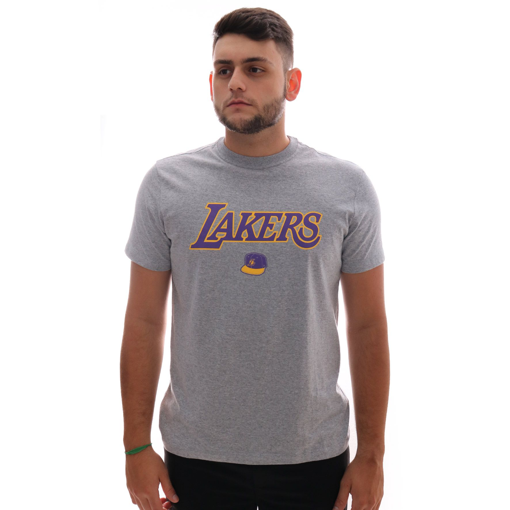 Camiseta New Era NBA Los Angeles Lakers Cinza