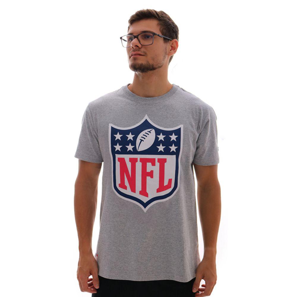 Camiseta New Era NFL Logo Cinza