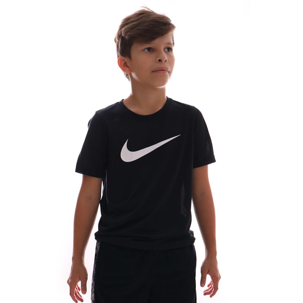 Camiseta Nike Dri-fit Swoosh Infantil Preto
