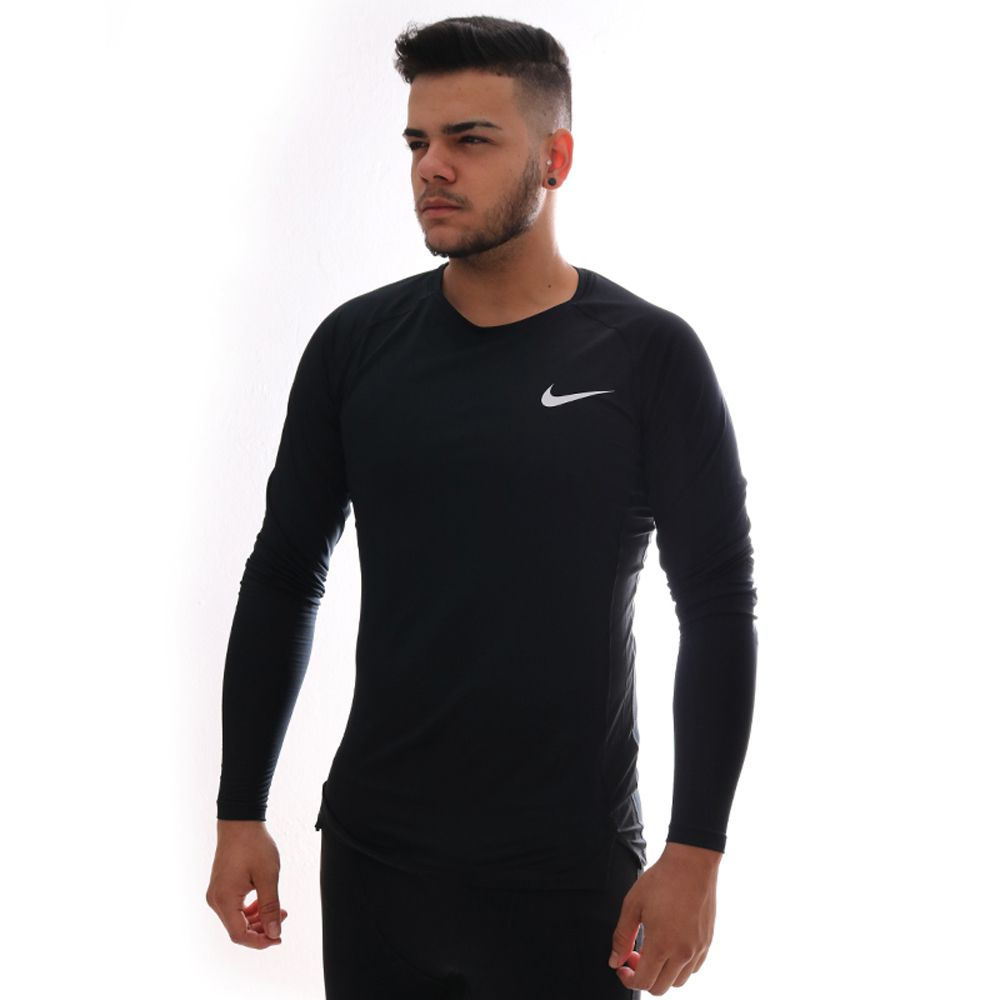 Camiseta De Compressao Nike Pro Masculina Preta