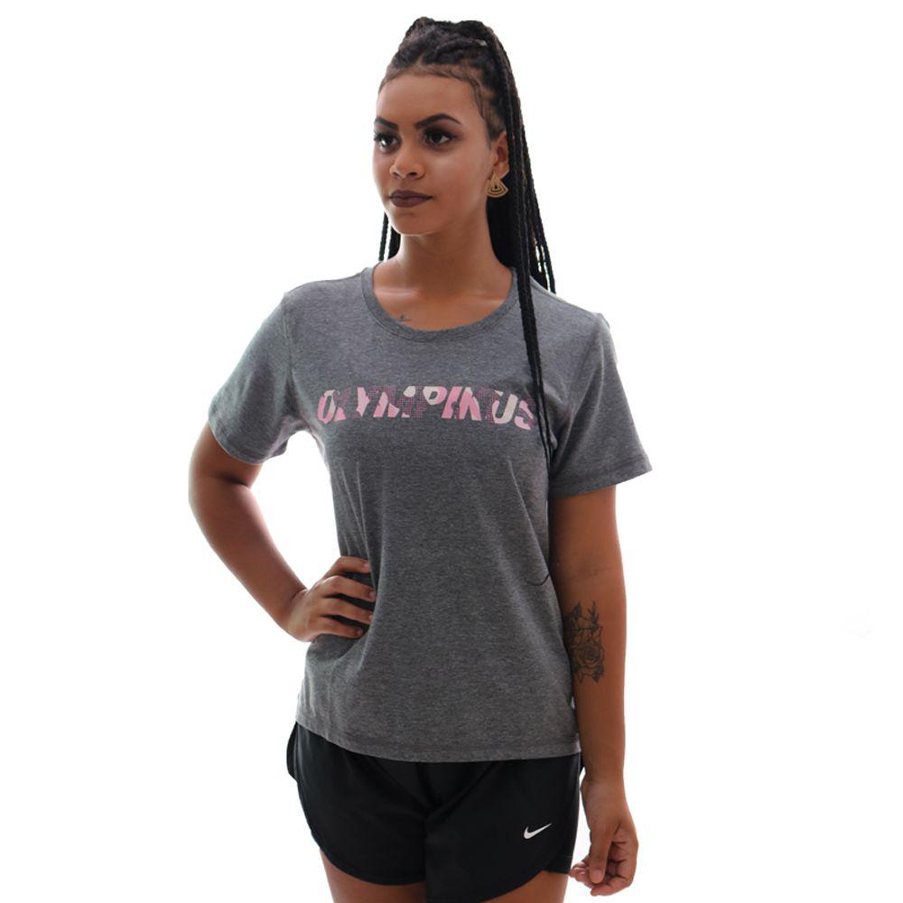 Camiseta Olympikus Basica Logo Feminina