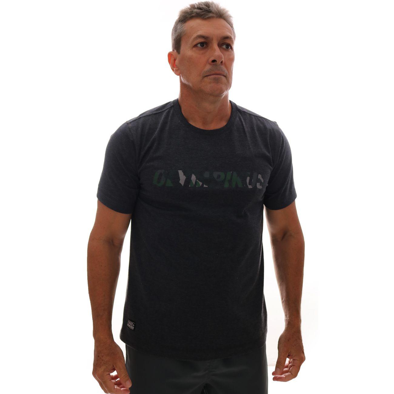 Camiseta Olympikus Básica Logo Preto