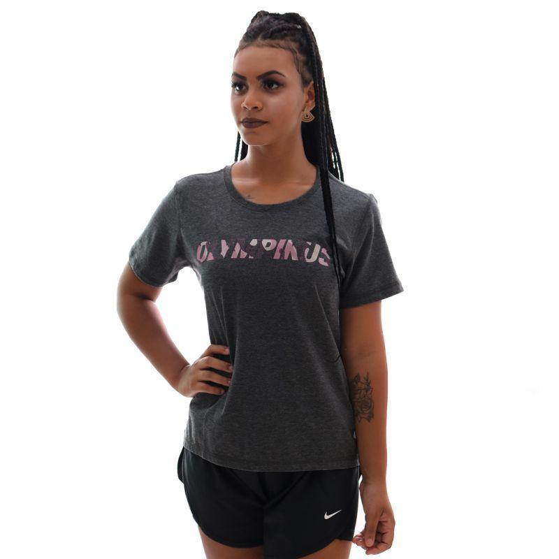Camiseta Olympikus Básica Logo Preto Feminina