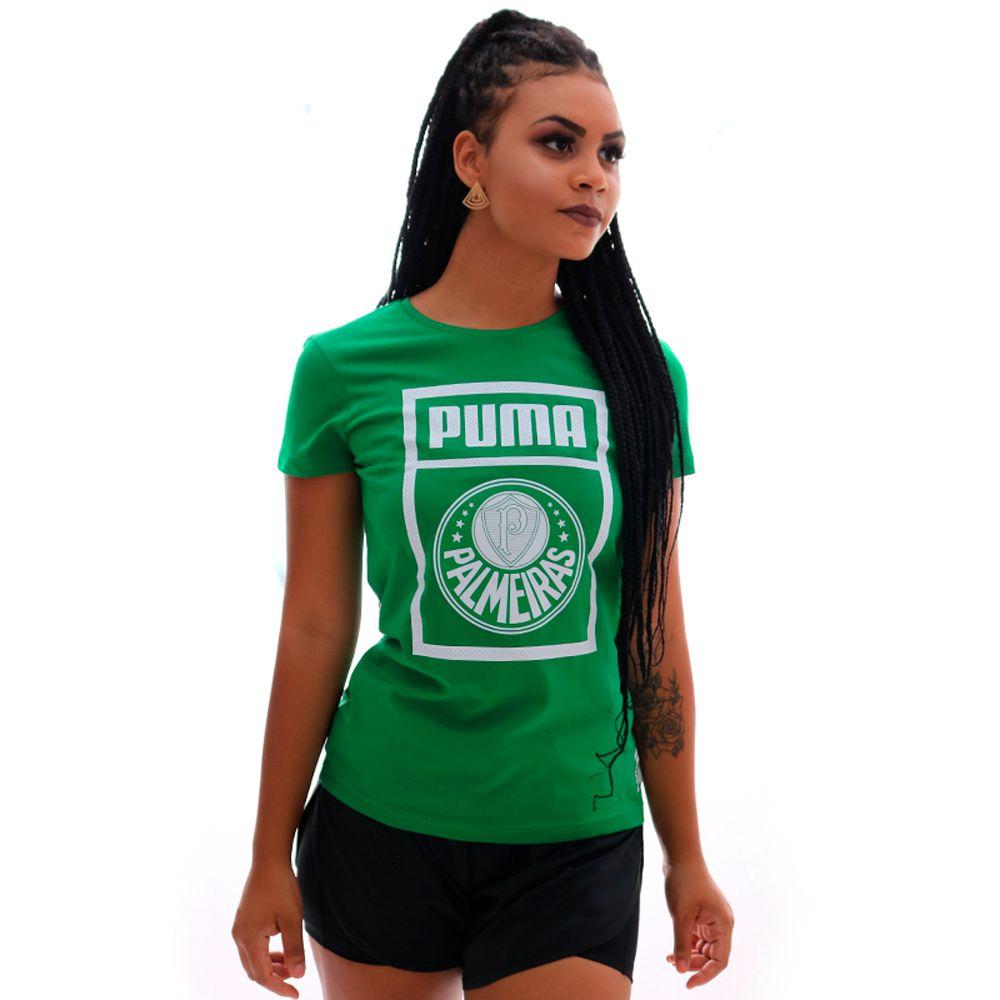 Camiseta Puma Palmeiras Grafhic Tee Feminina
