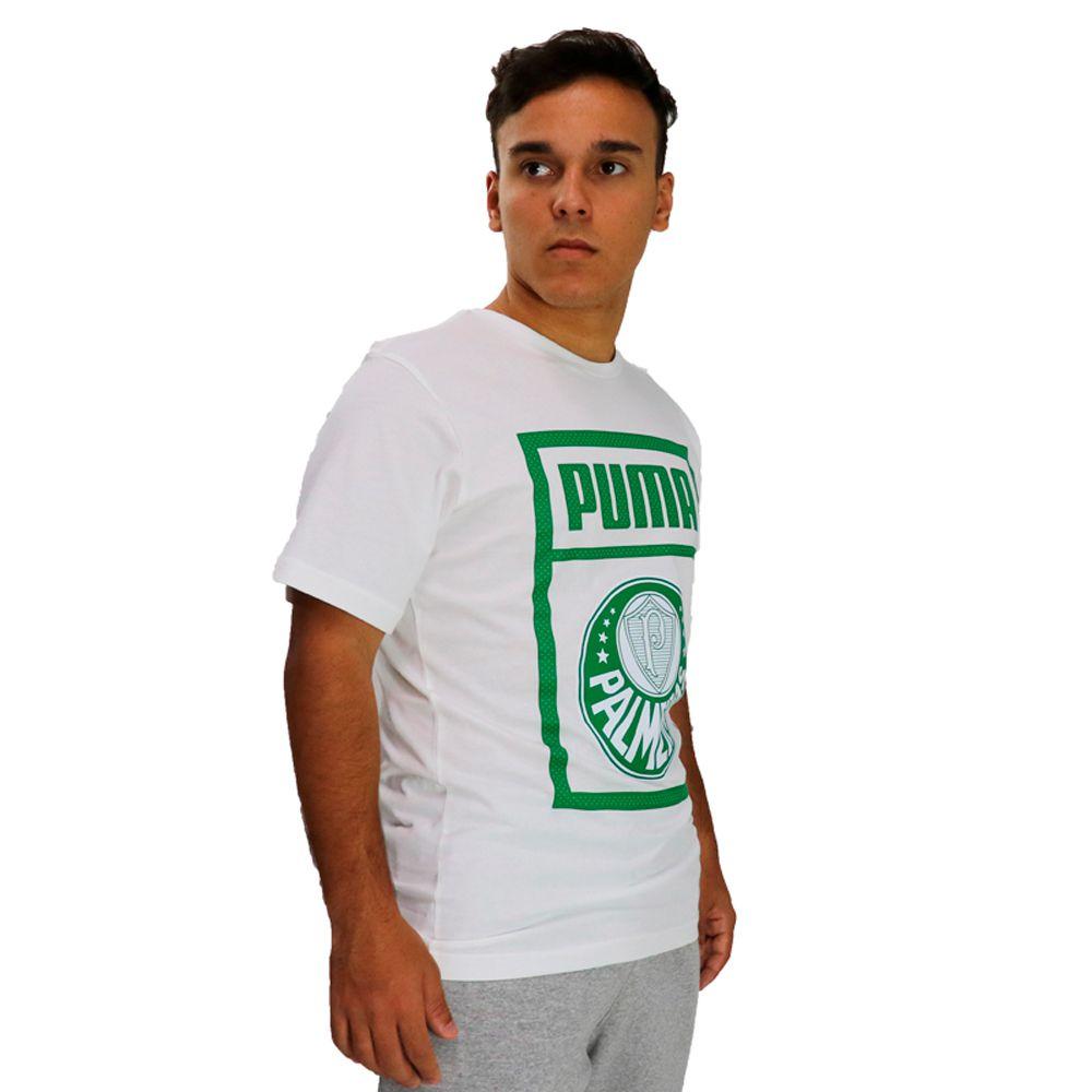 Camiseta Puma Palmeiras Graphic Tee Branca
