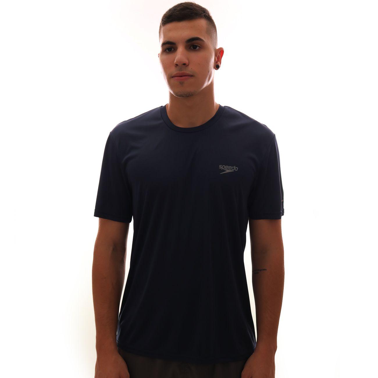 Camiseta Speedo Interlock UV50 Masculina Marinho
