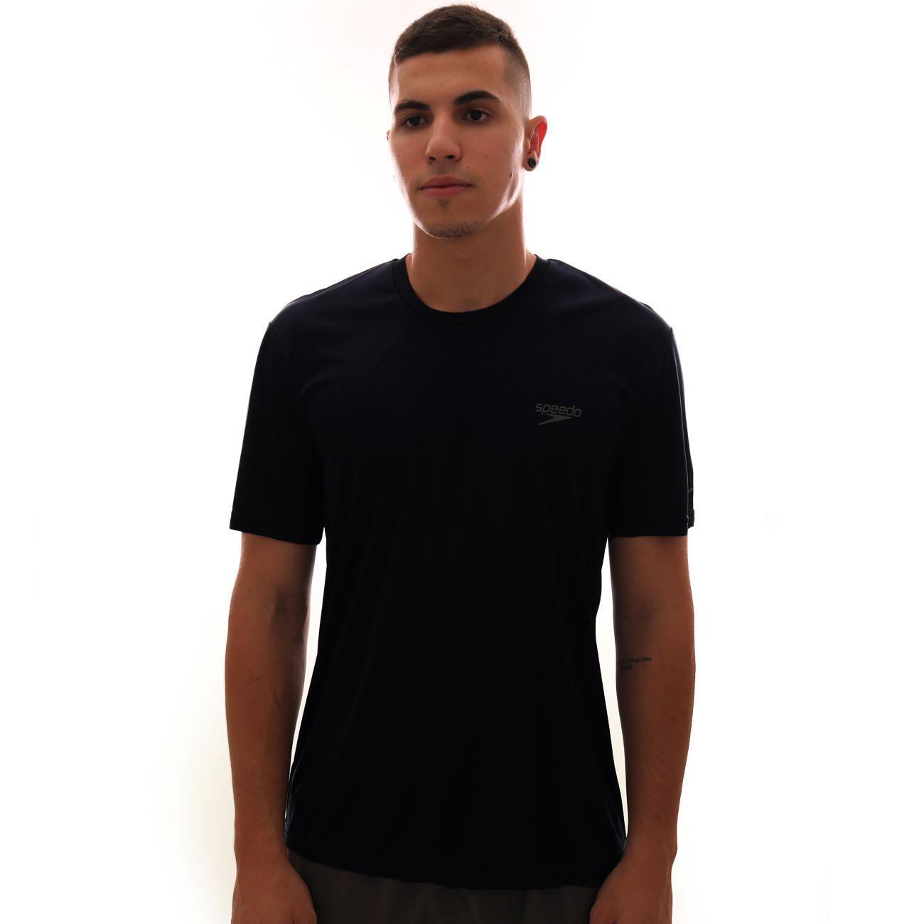 Camiseta Speedo Interlock UV50 Masculina Preto