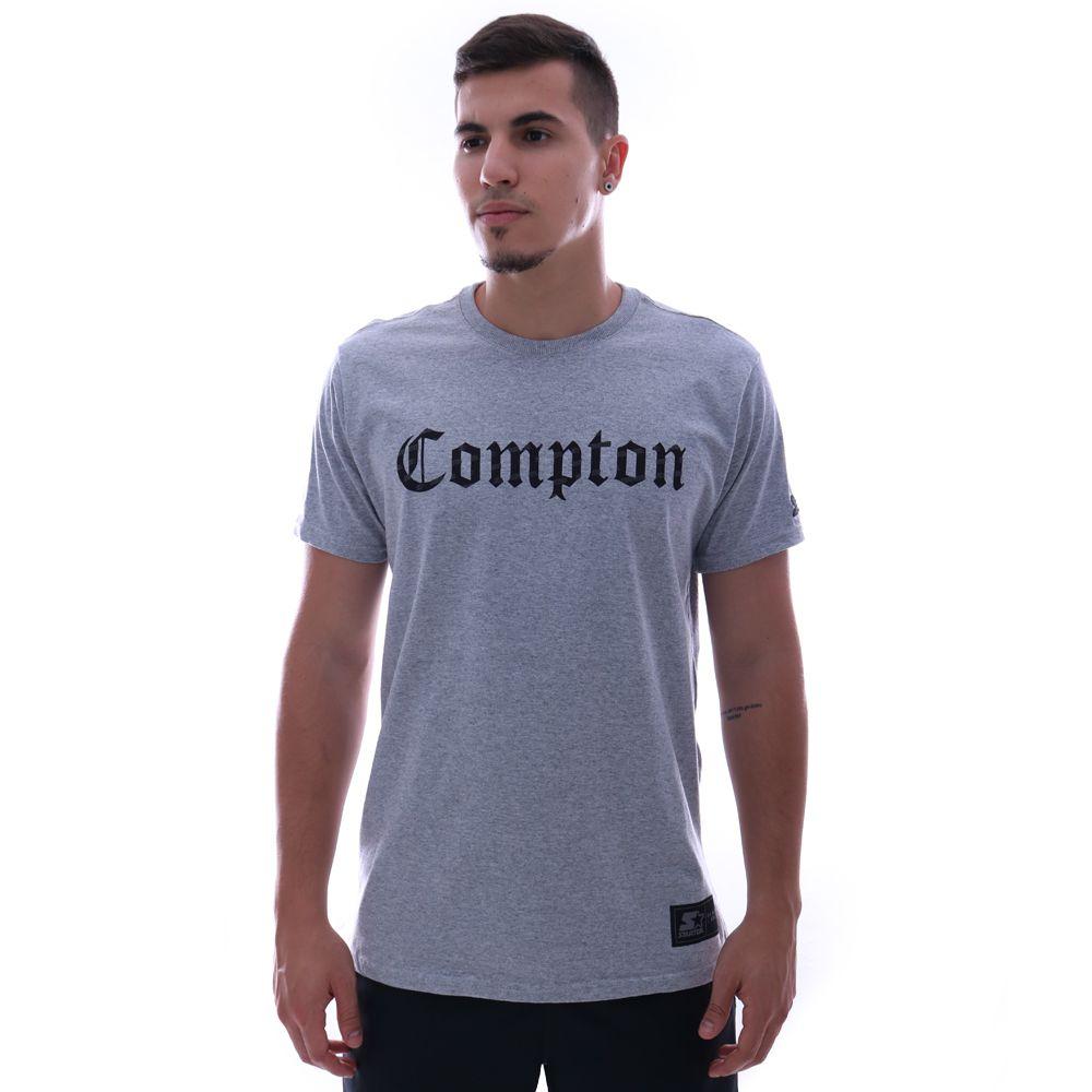 Camiseta Starter Compton Cinza Mescla