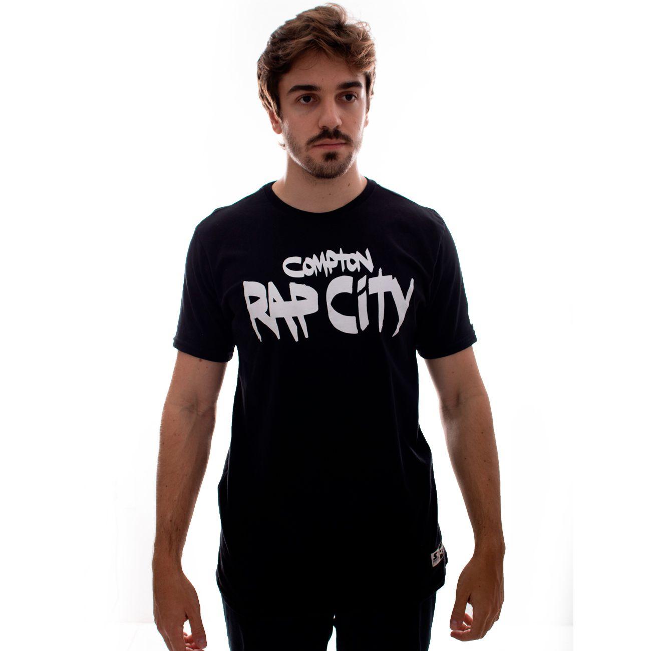 Camiseta Starter Rap City Por Mottilaa Preto