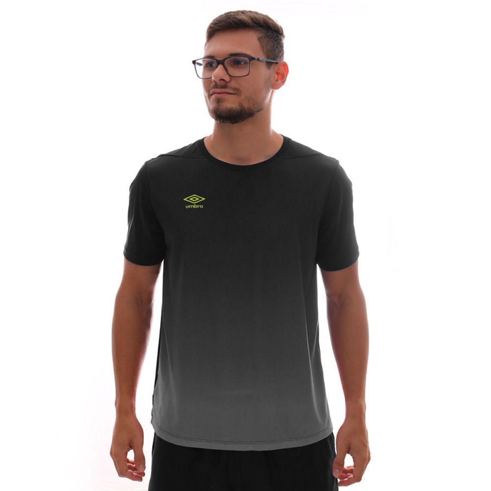 Camiseta Umbro TWR Degrade Preto E Cinza