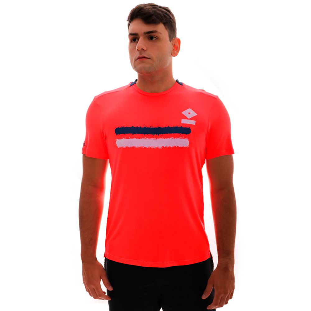 Camiseta Umbro TWR Duo Line Coral E Marinho