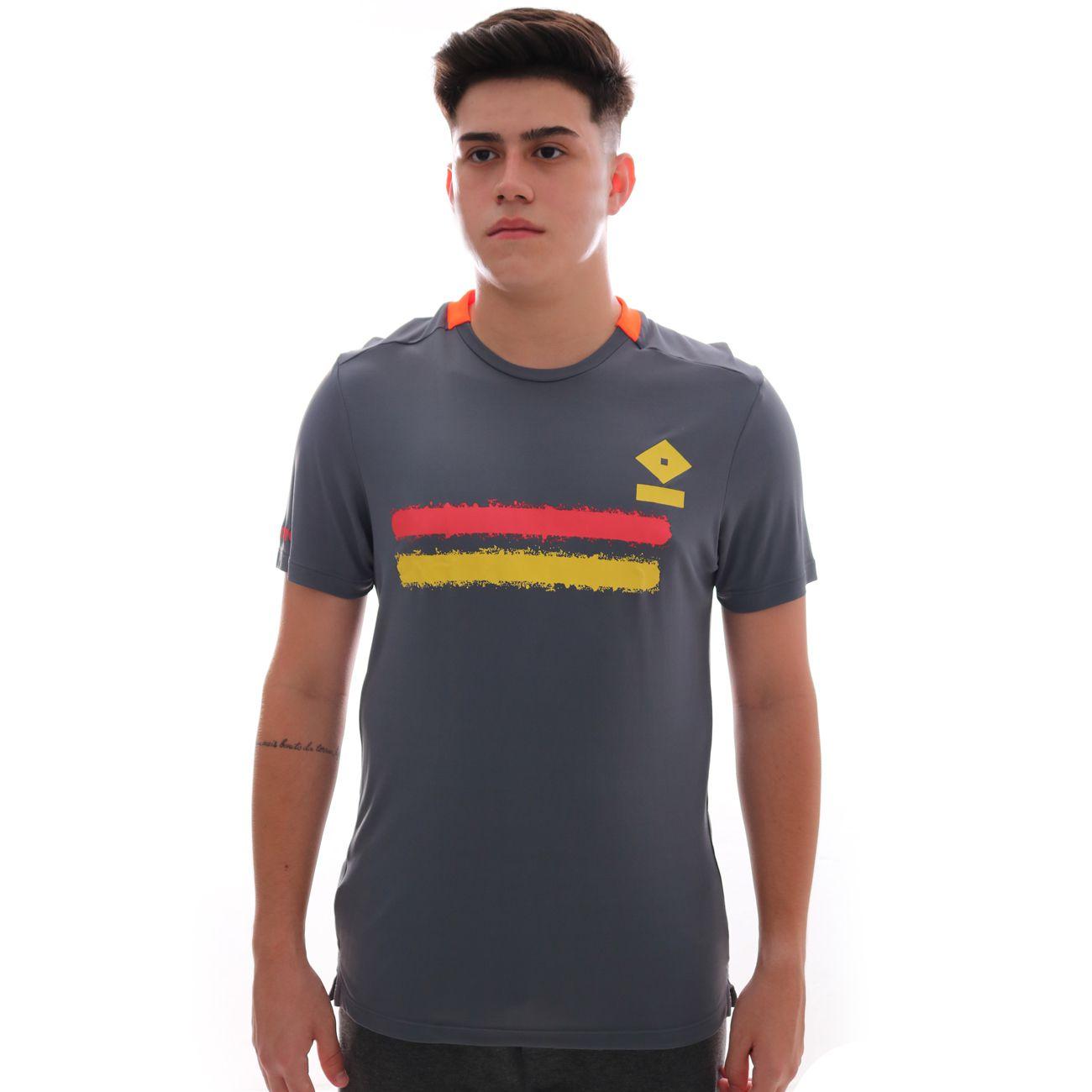 Camiseta Umbro Twr Duo Line Grafite E Coral
