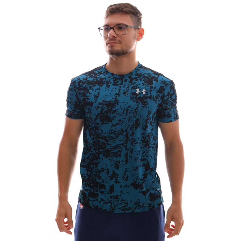 Camiseta Under Armour Speed Stride Printed Ss Verde