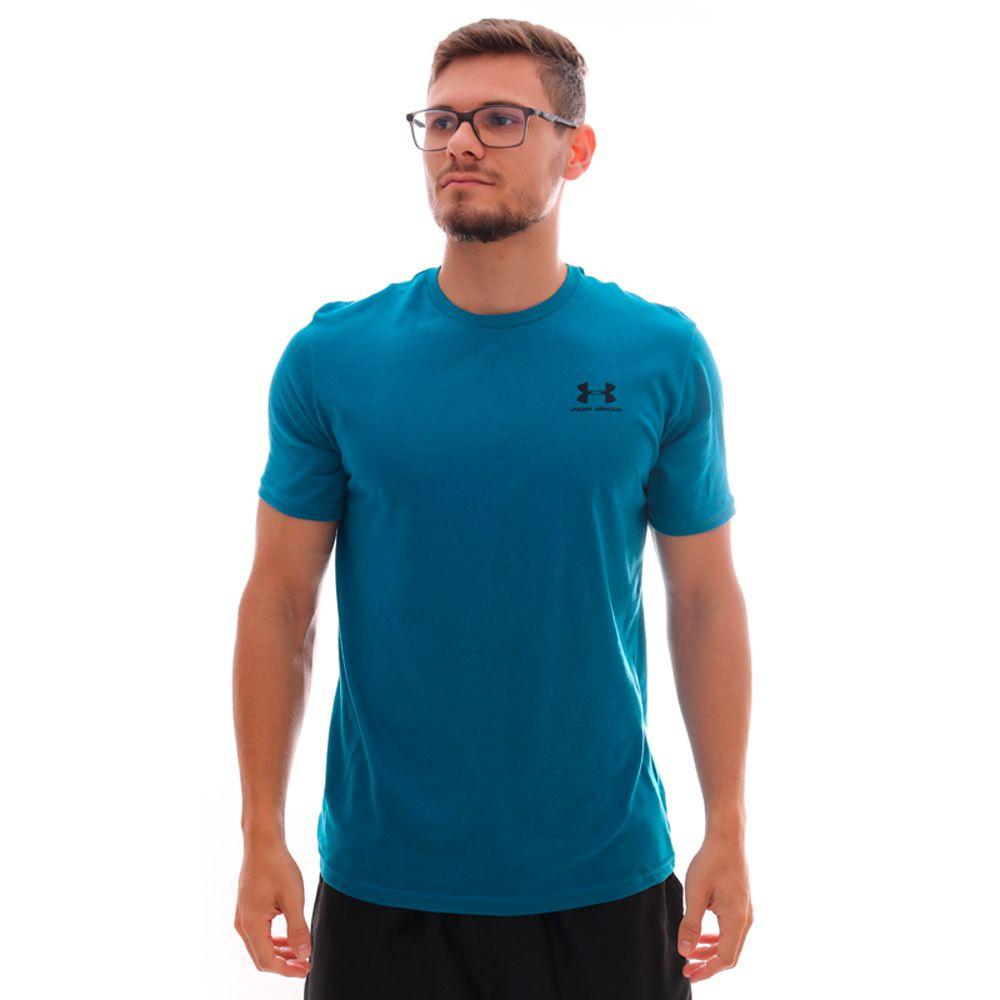Camiseta Under Armour Sportstyle Left Chest Ss Azul
