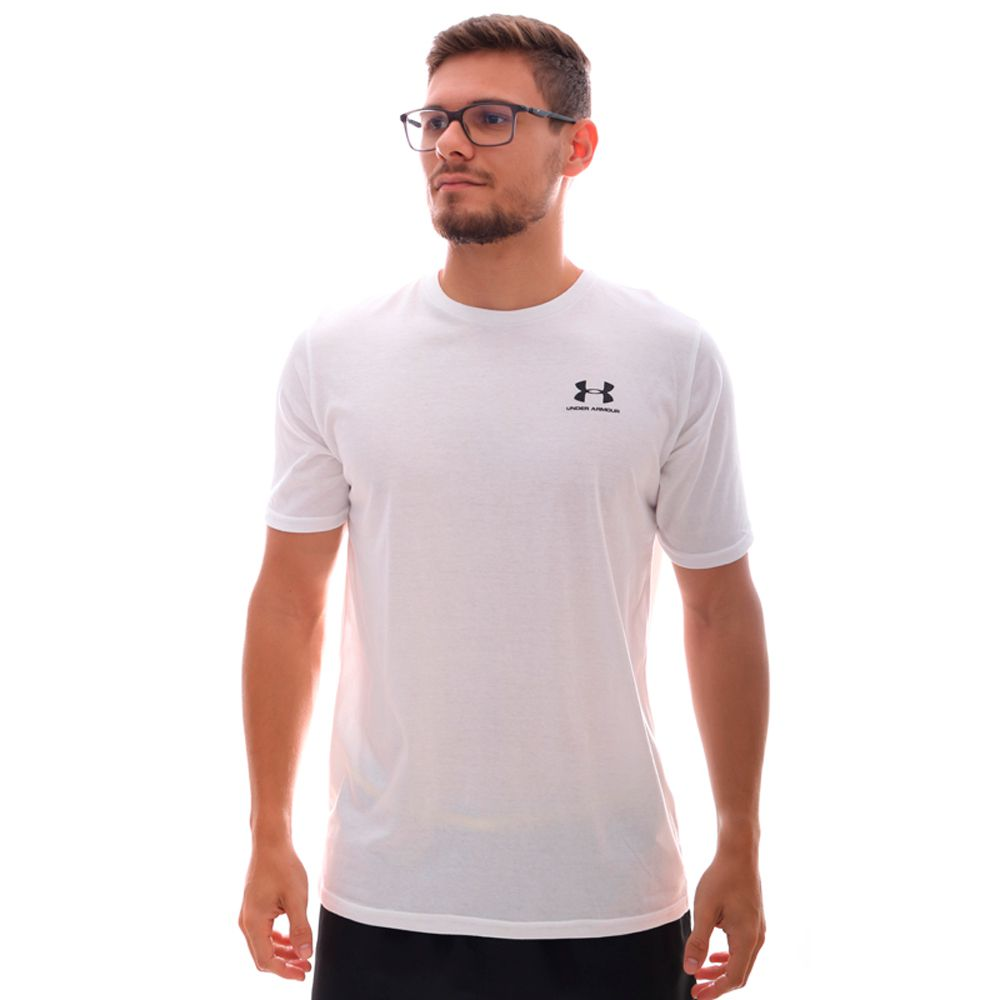Camiseta Under Armour Sportstyle Left Chest SS Branca