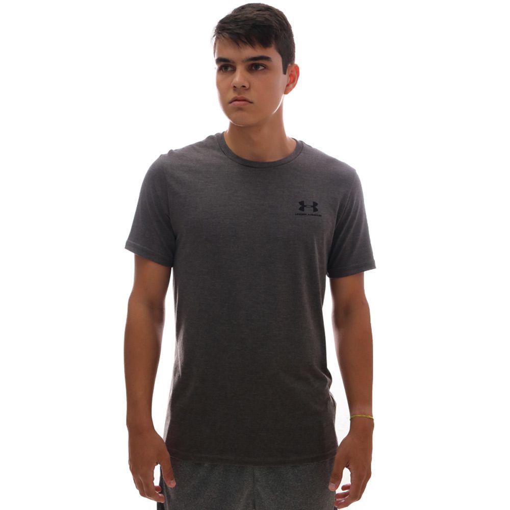 Camiseta Under Armour Sportstyle Left Chest SS Chumbo