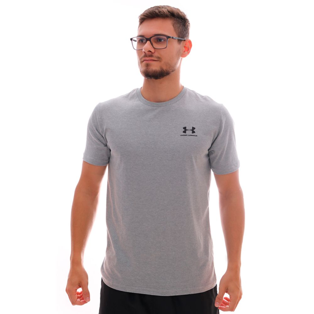 Camiseta Under Armour Sportstyle Left Chest Ss Cinza