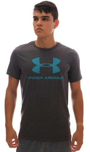Camiseta Under Armour Sportstyle Logo SS Chumbo