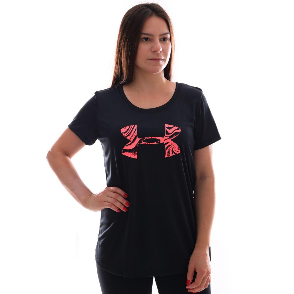 Camiseta Under Armour Tech Graphic Feminina Preto