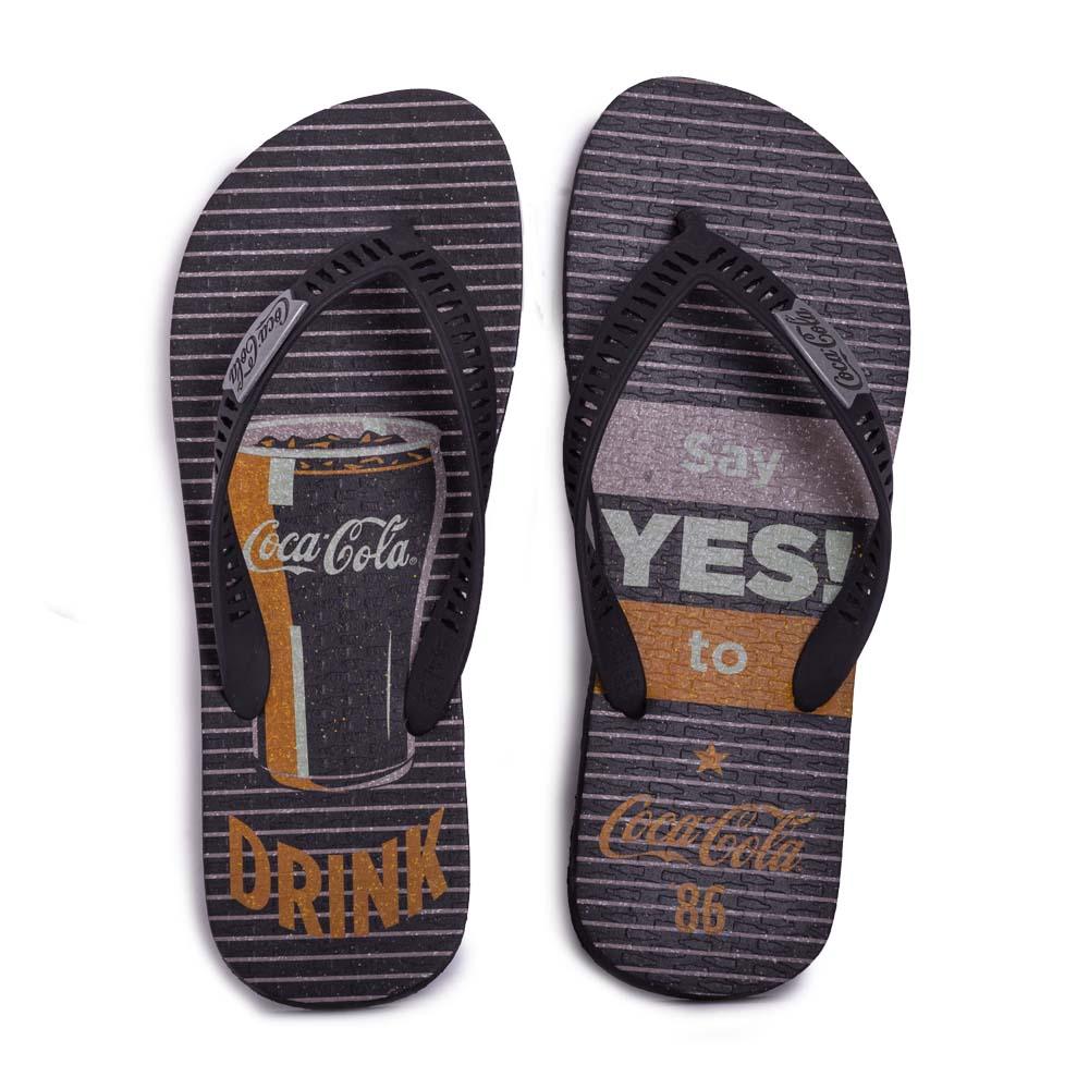 Chinelo Coca Cola Yes! Preto