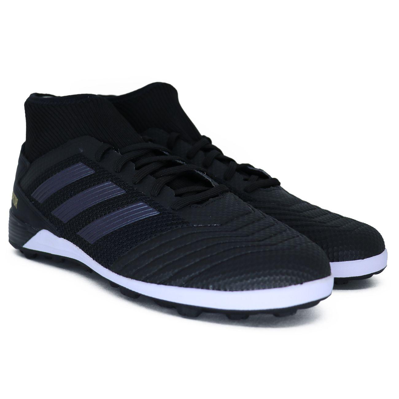 Chuteira Society Adidas Predator 19 3 TF - Preto