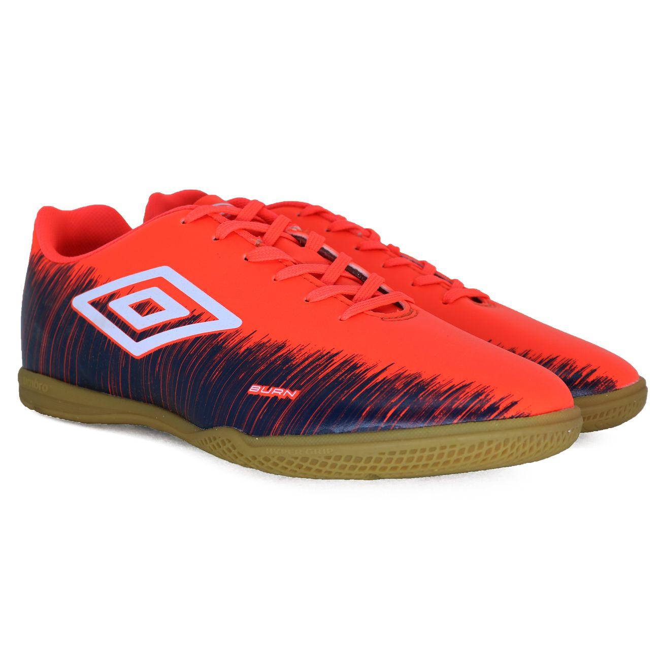 Chuteira Umbro Burn Futsal Coral