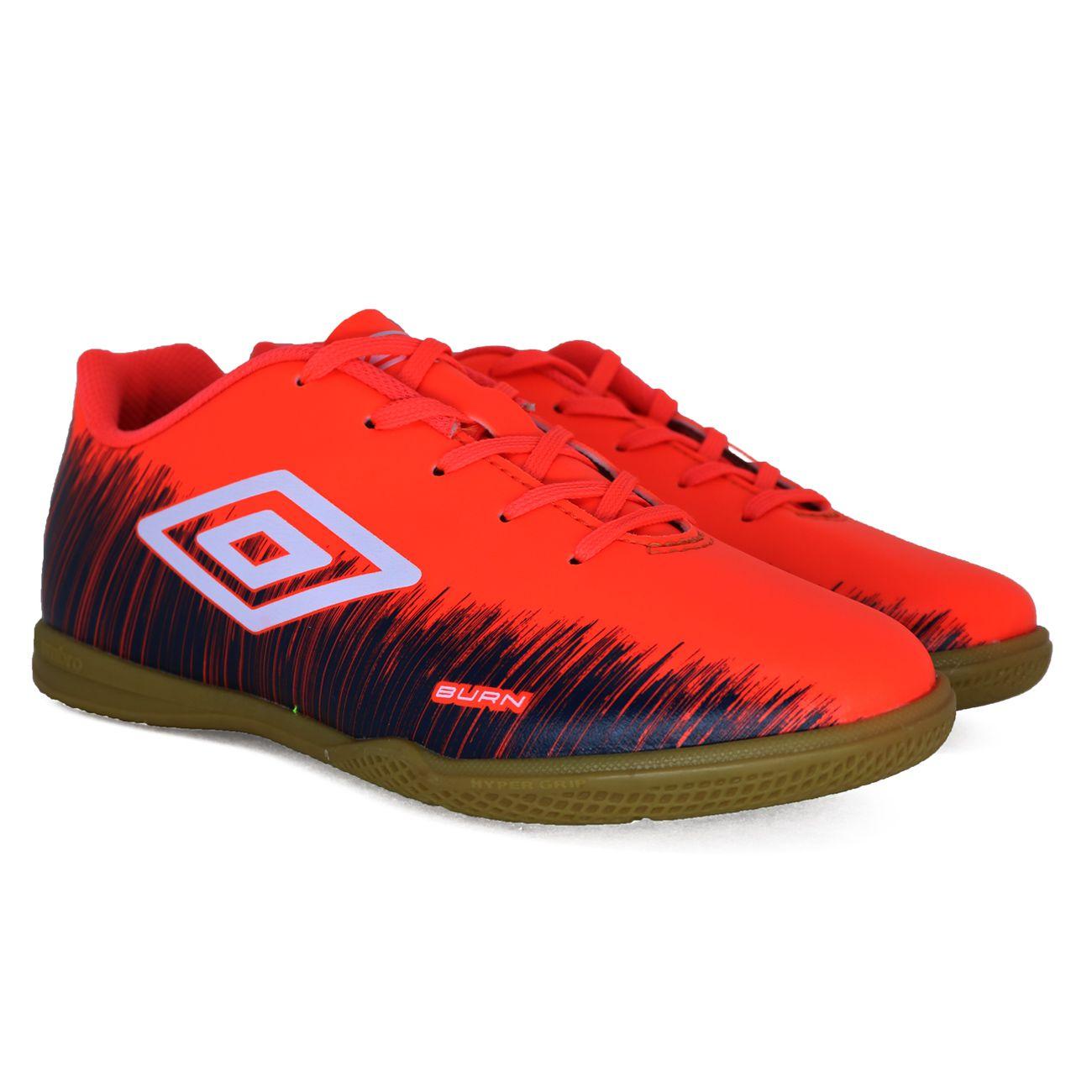 Chuteira Umbro Burn Futsal Juvenil Coral