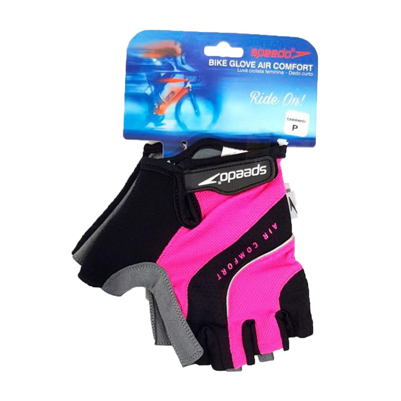Luva Speedo Bike Glove Air Comfort Rosa E Preto