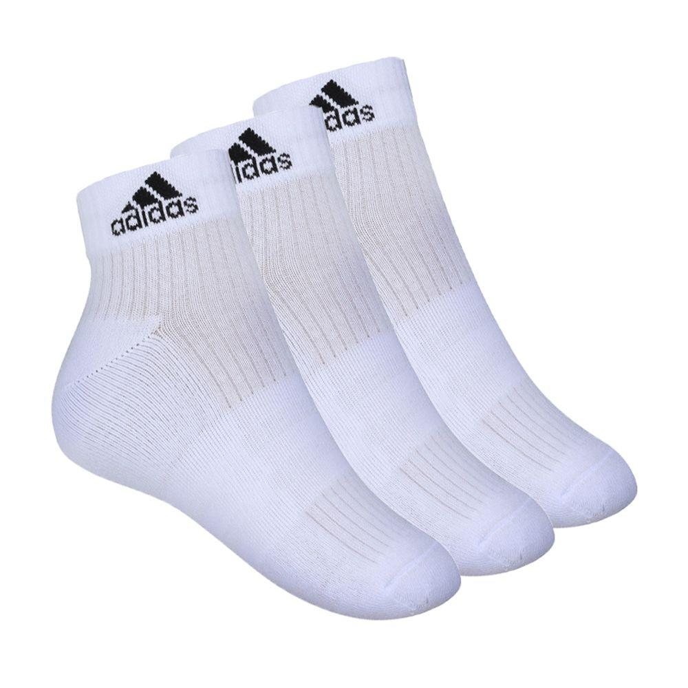 Meia Adidas Ankle Mid Cushion 3s 3 Pares
