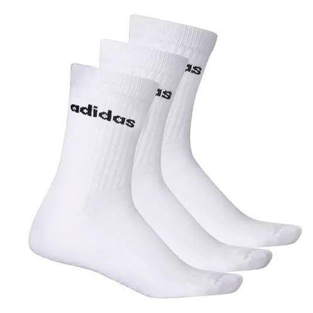 Meia Adidas Crew 3 Pares