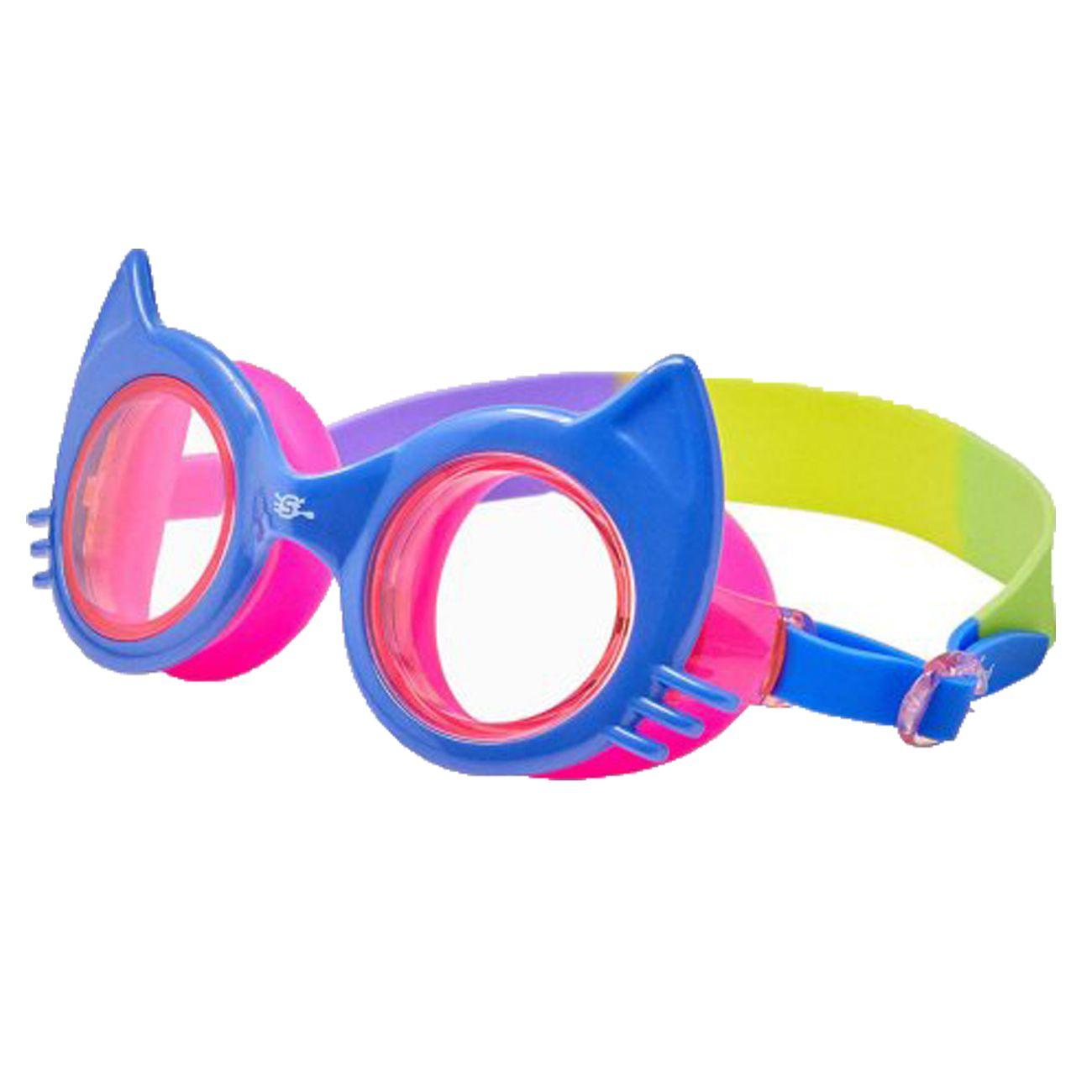 Óculos De Natação Speedo Cat Azul E Rosa