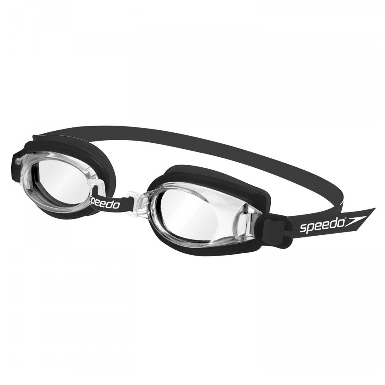 Oculos De Natacao Speedo Jr Captain Preto Cristal