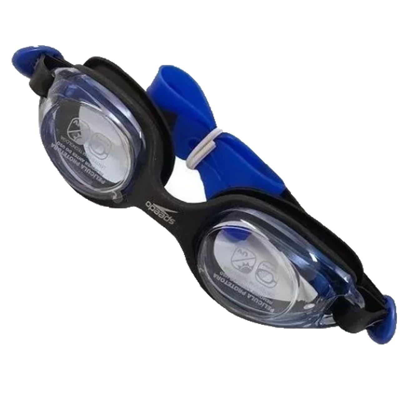 Óculos De Natação Speedo Junior Olympic Preto E Azul