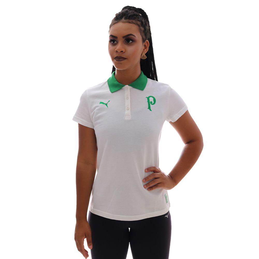 Polo Puma Palmeiras Feminina Branca