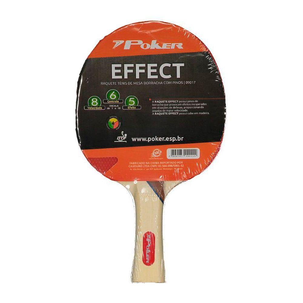 Raquete Tênis De Mesa Effect Poker