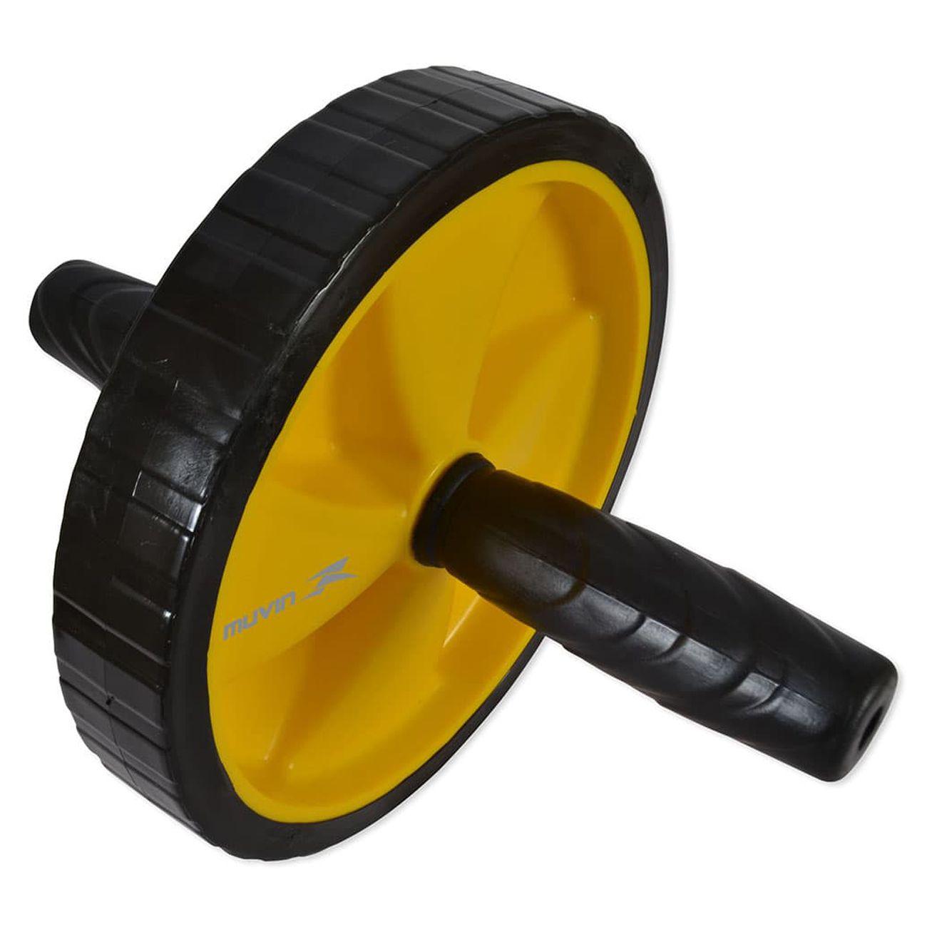 Roda De Exercicios Abdominais Muvin Preto E Amarelo