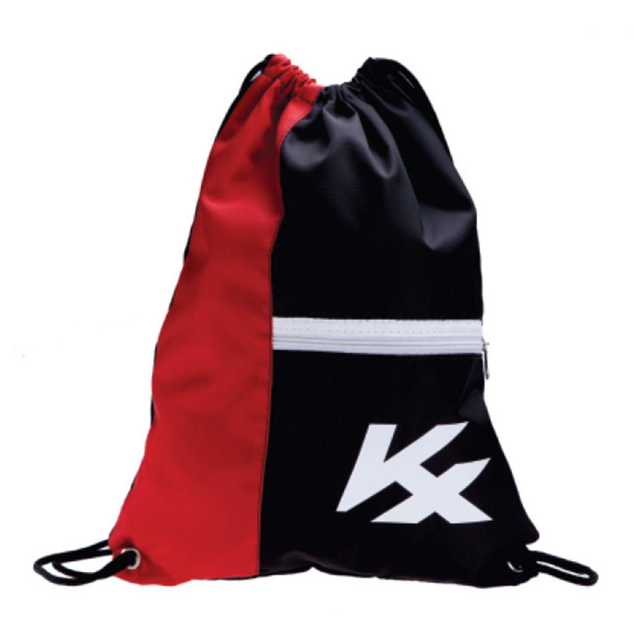 Saco Kanxa Gym Bag Com Ziper Preto E Vermelho