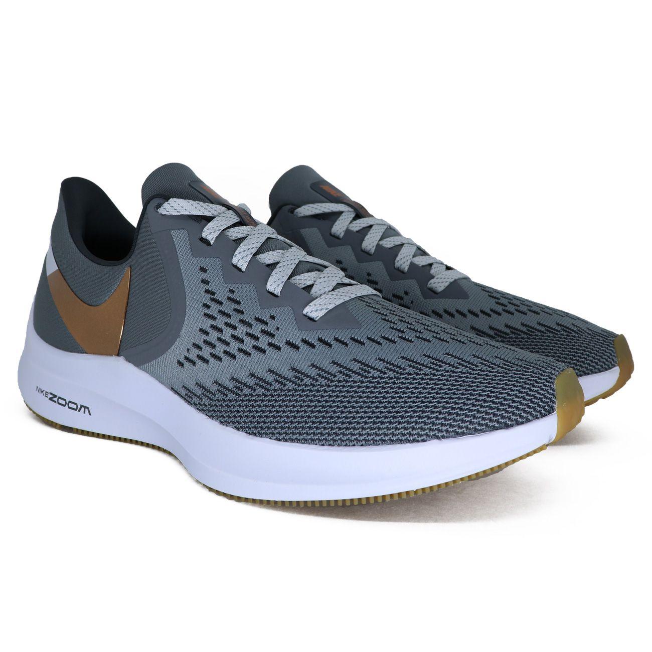 Tênis Nike Zoom Winflo 6 Cinza