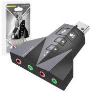 Adaptador USB de Som 7.1 com 2 Entradas para Fone e Microfone Adaptador de Som