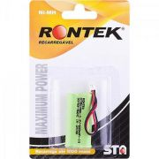 Bateria Recarregavel Conector A58 para Telefone sem Fio NIMH 600MAH 2,4V Rontek