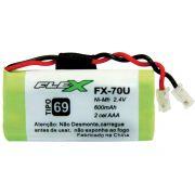 Bateria Telefone S/ Fio 2.4V 600MAH PLUG Univer