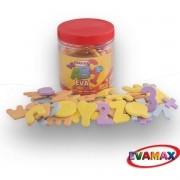 Brinquedo Pedagogico EVA PQ ALFAN 5MM 5X3CM 92PCS 2ABC/
