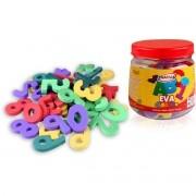 Brinquedo Pedagogico EVA PQ Numeros 5MM 5X3CM 105PCS
