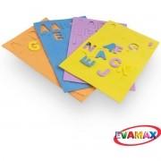 Brinquedo Pedagogico EVA Recortado ABC+VOG MD 124PC 3CM