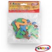 Brinquedo Pedagogico EVA Recortado Numeros GD 60 PC 5CM